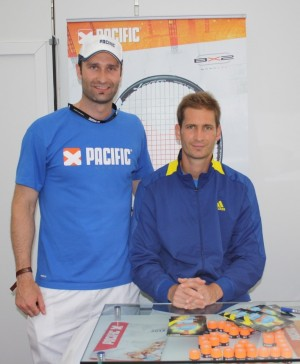 Bastian Grundler & Florian Mayer - At a tournament signing session