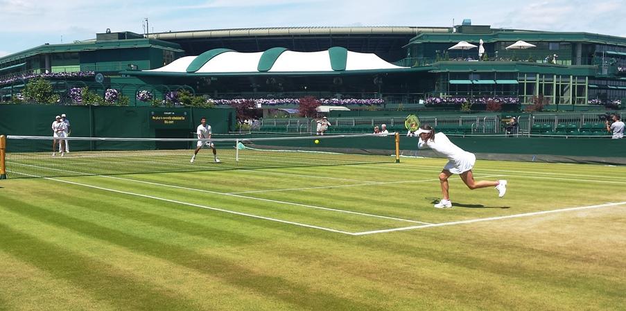 Hingis Mirza doubles practice 2